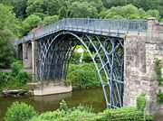 The Iron Bridge (1781). The first large bridge made of cast iron
