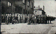 Tyldesley miners outside the Miners Hall during the 1926 strike