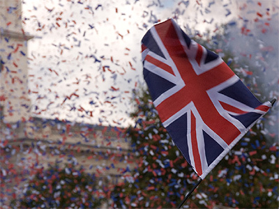 2066 Millennium celebrations, Trafalgar Square, London