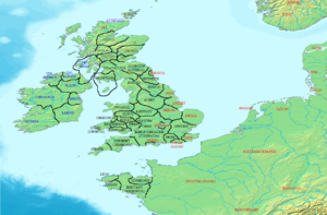 Britain, Ireland and Brittany in AD 500