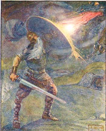 beowulf and the dragon essay After beowulf's death, wiglaf, the young hero who aids the hero in slaying the dragon, predicts that the geats will suffer in a retaliatory war from the heathobards.